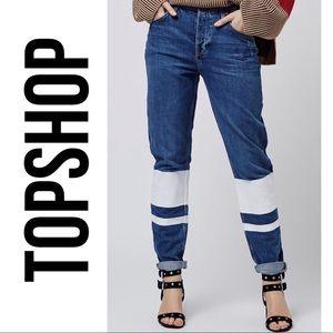 Topshop MOTO Stripe Hayden Jeans